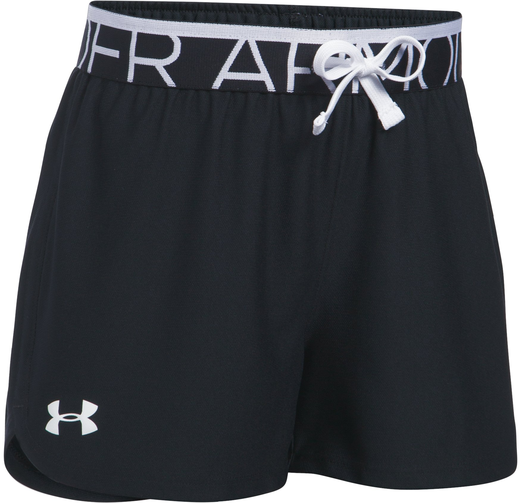 Girls' UA Play Up Shorts, Black
