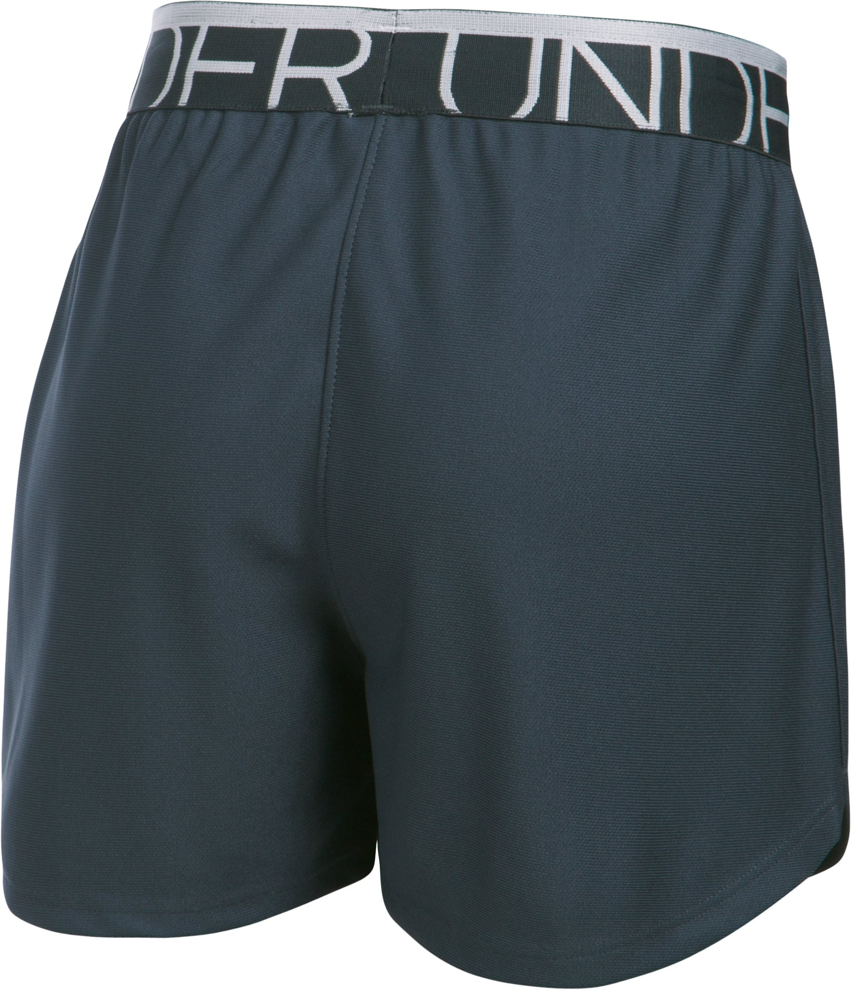 Girls' UA Play Up Shorts, STEALTH GRAY,
