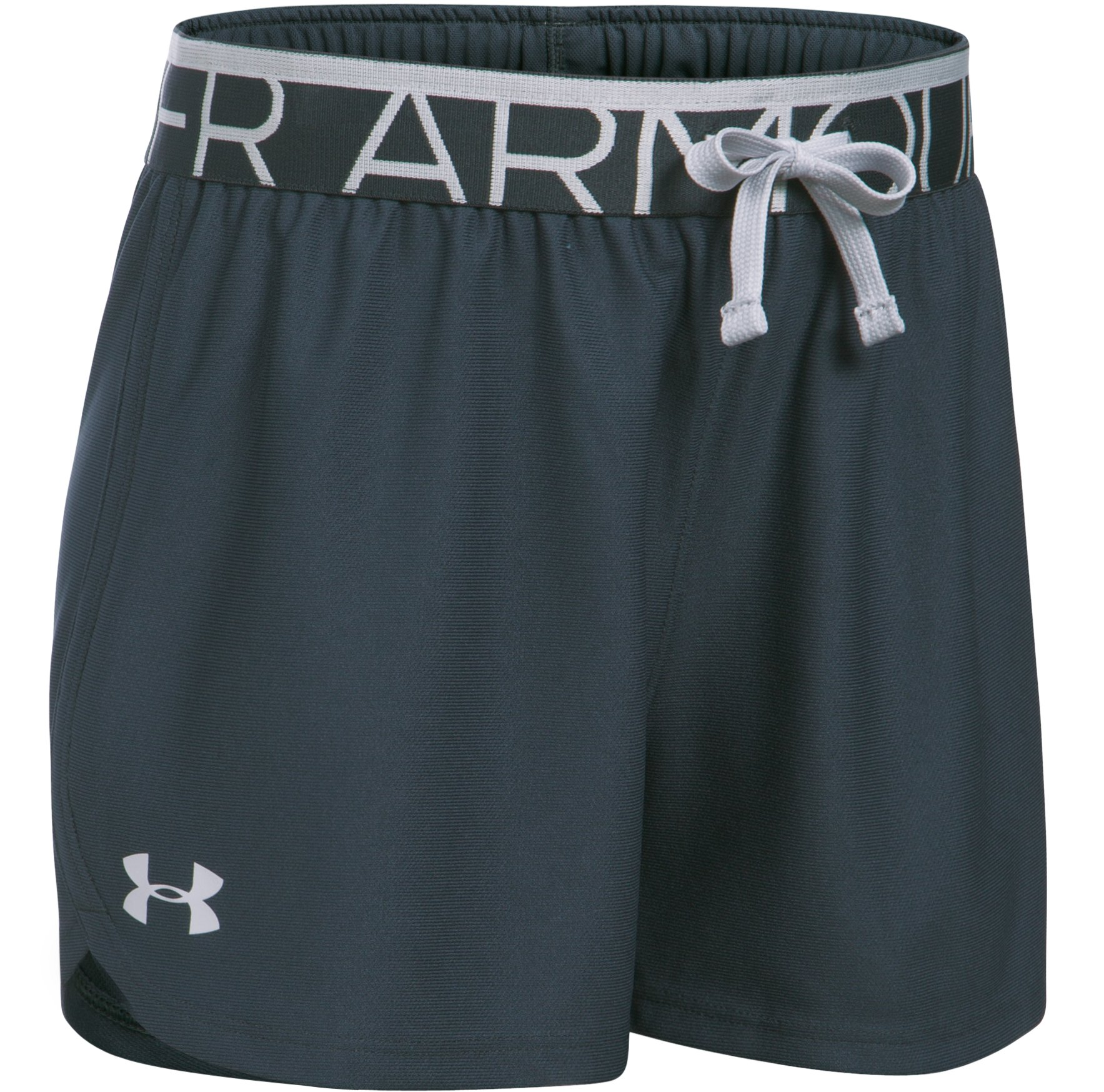 Girls' UA Play Up Shorts, STEALTH GRAY, undefined