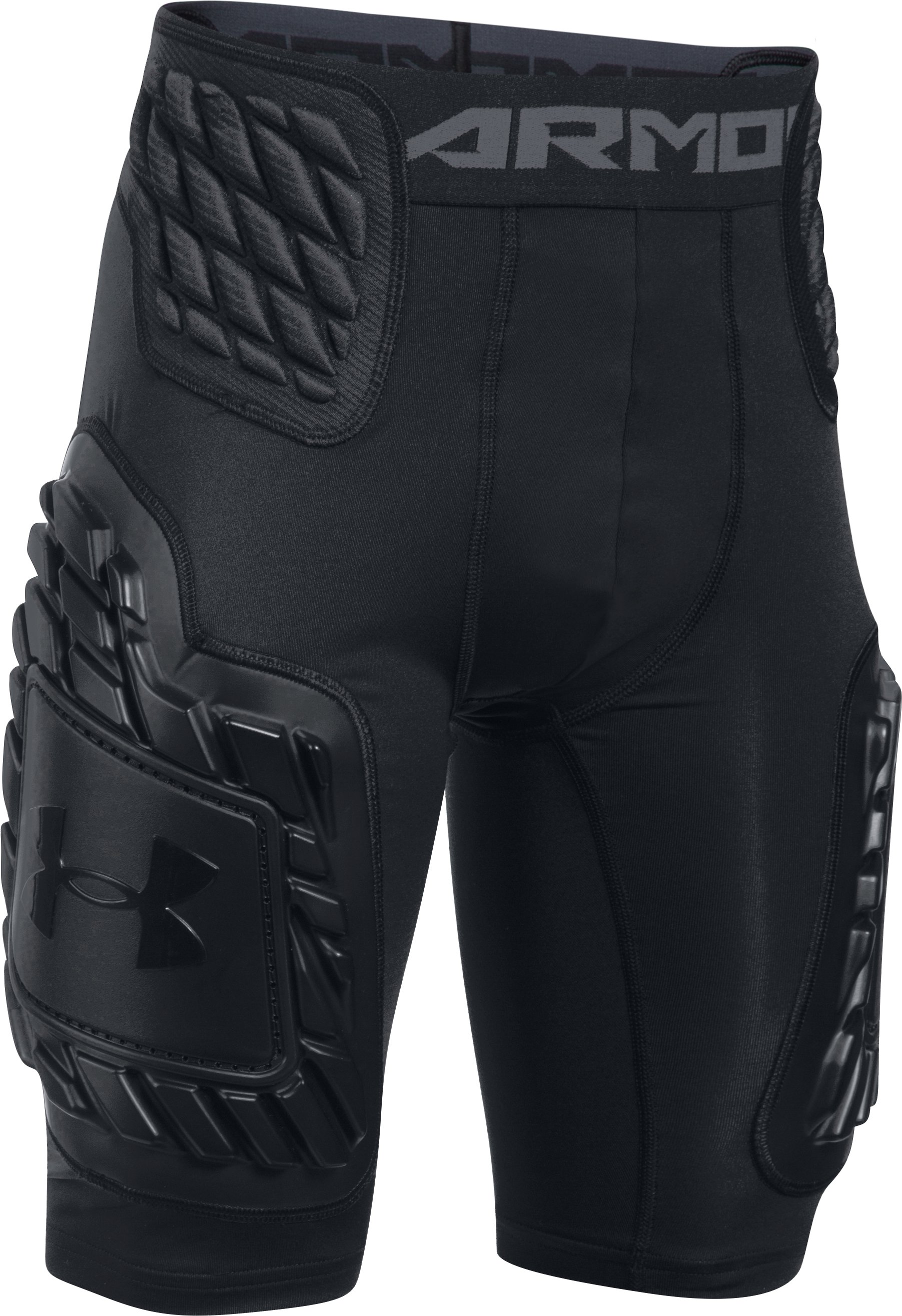 Boys' UA Gameday Armour® Girdle, Black , undefined