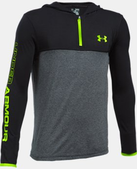 Boys' UA Threadborne ¼ Zip Hoodie  2 Colors $14.99