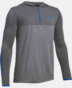 New Arrival Boys' UA Threadborne ¼ Zip Hoodie   $34.99