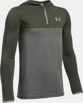 New Arrival Boys' UA Threadborne ¼ Zip Hoodie  1 Color $34.99