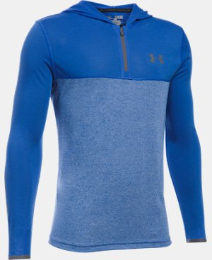New Arrival  Boys' UA Threadborne ¼ Zip Hoodie  1 Color $39.99