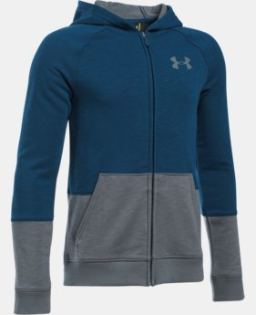 Boys' UA Sportstyle Iso Full Zip Hoodie  1 Color $30.99 to $41.99