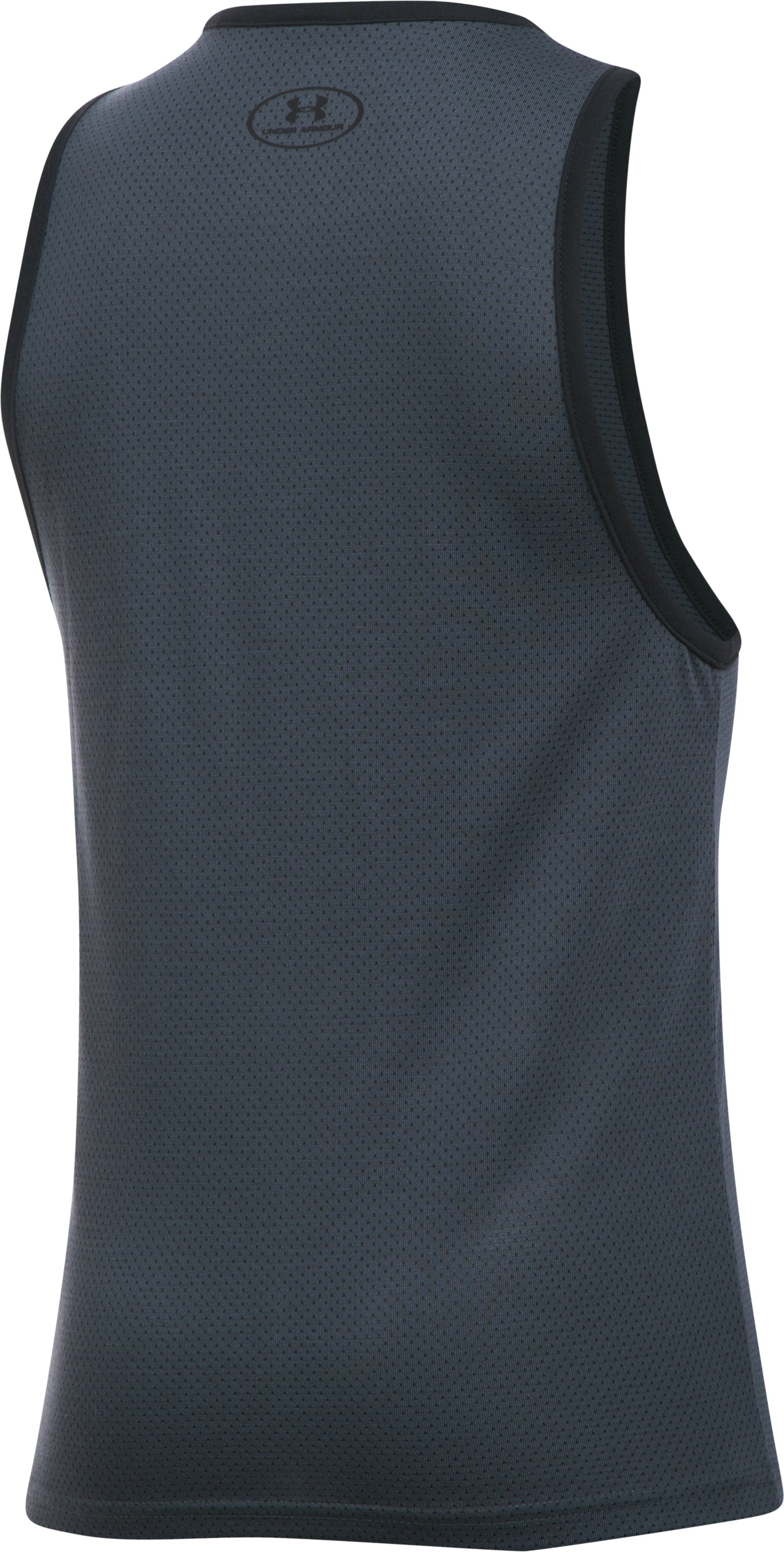 Boys' UA Threadborne Tank, STEALTH GRAY,