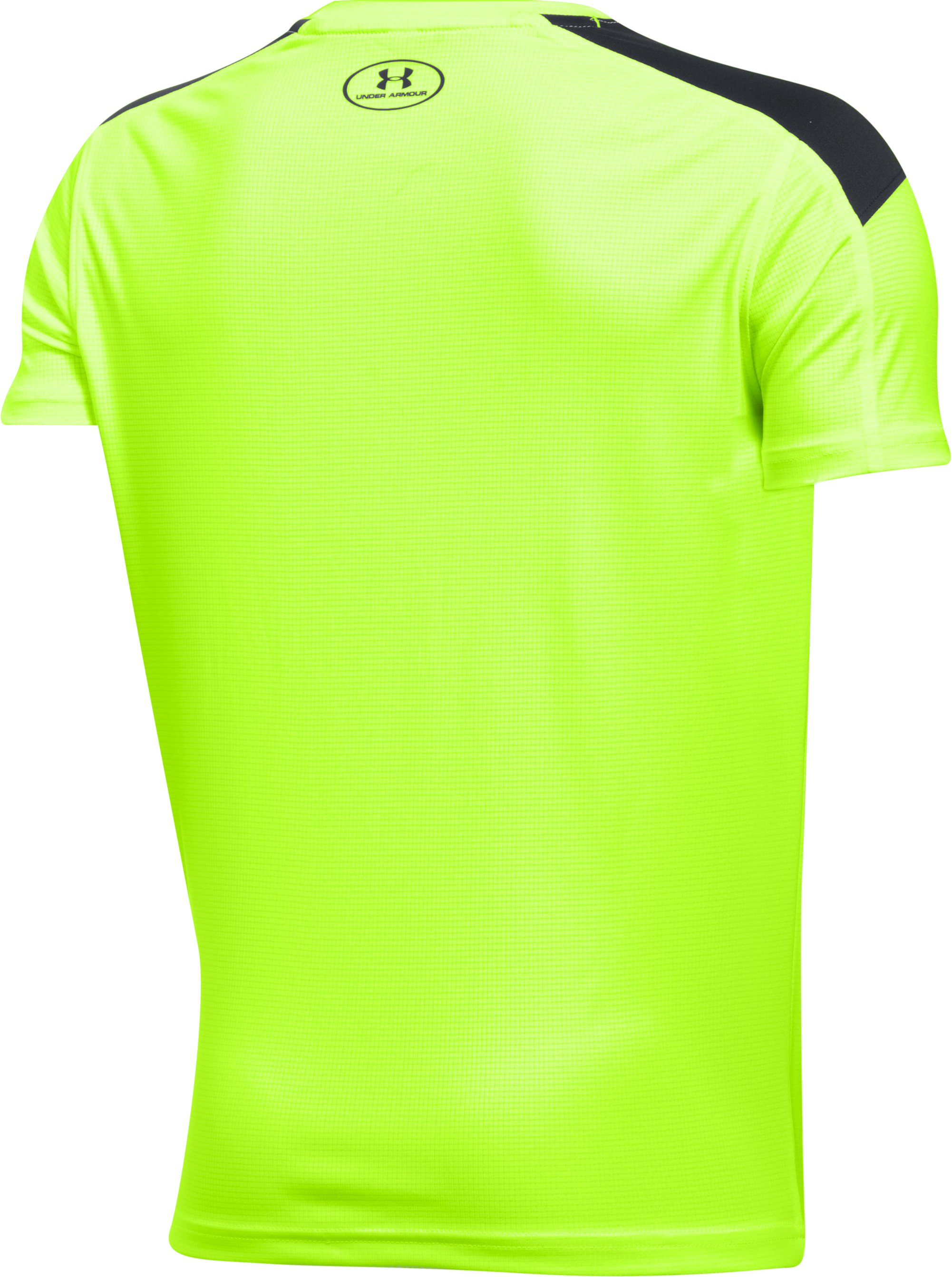 Boys' UA Activate Short Sleeve T-Shirt, FUEL GREEN, undefined