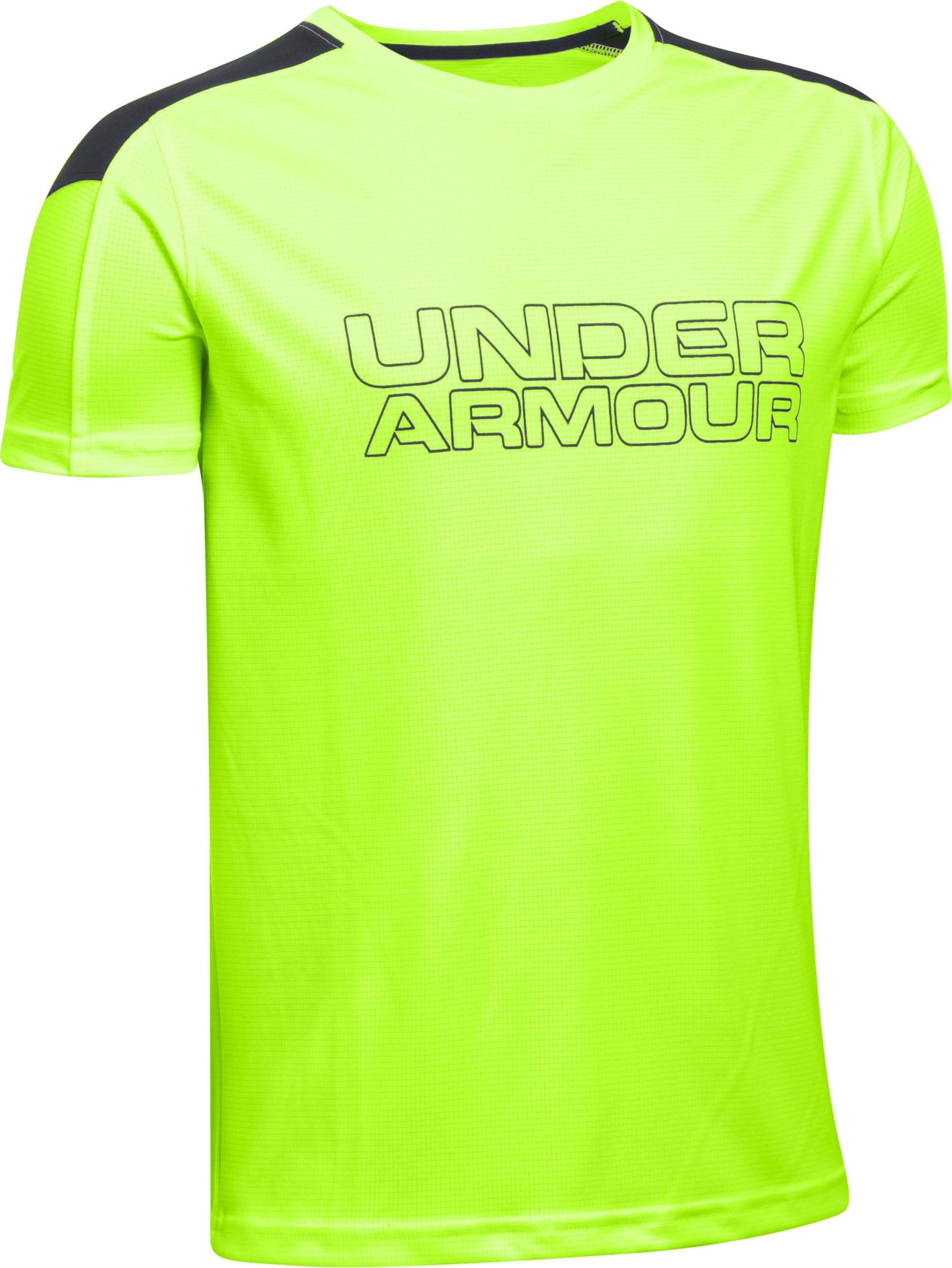 Boys' UA Activate Short Sleeve T-Shirt, FUEL GREEN