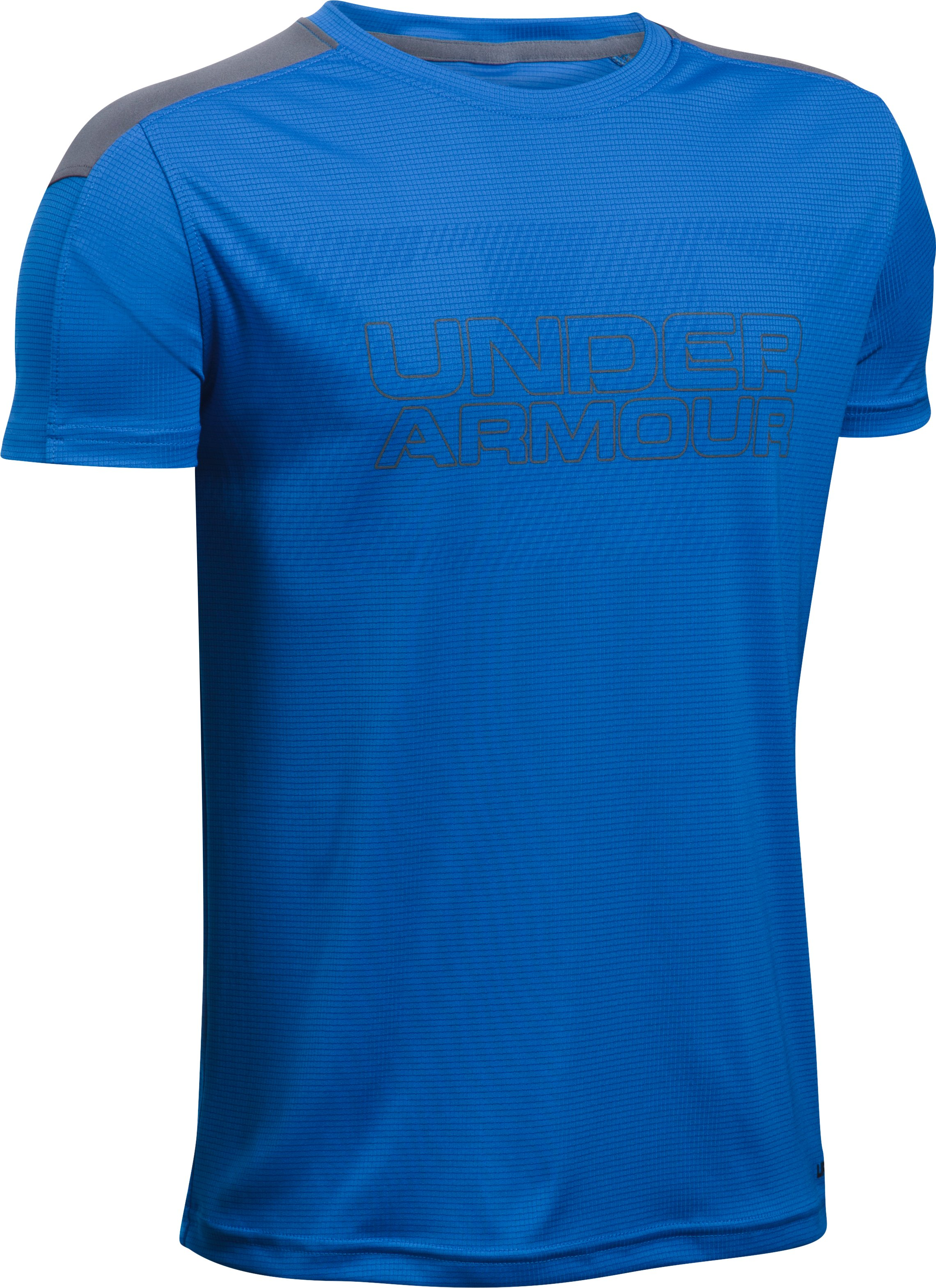 Boys' UA Activate Short Sleeve T-Shirt, ULTRA BLUE, undefined