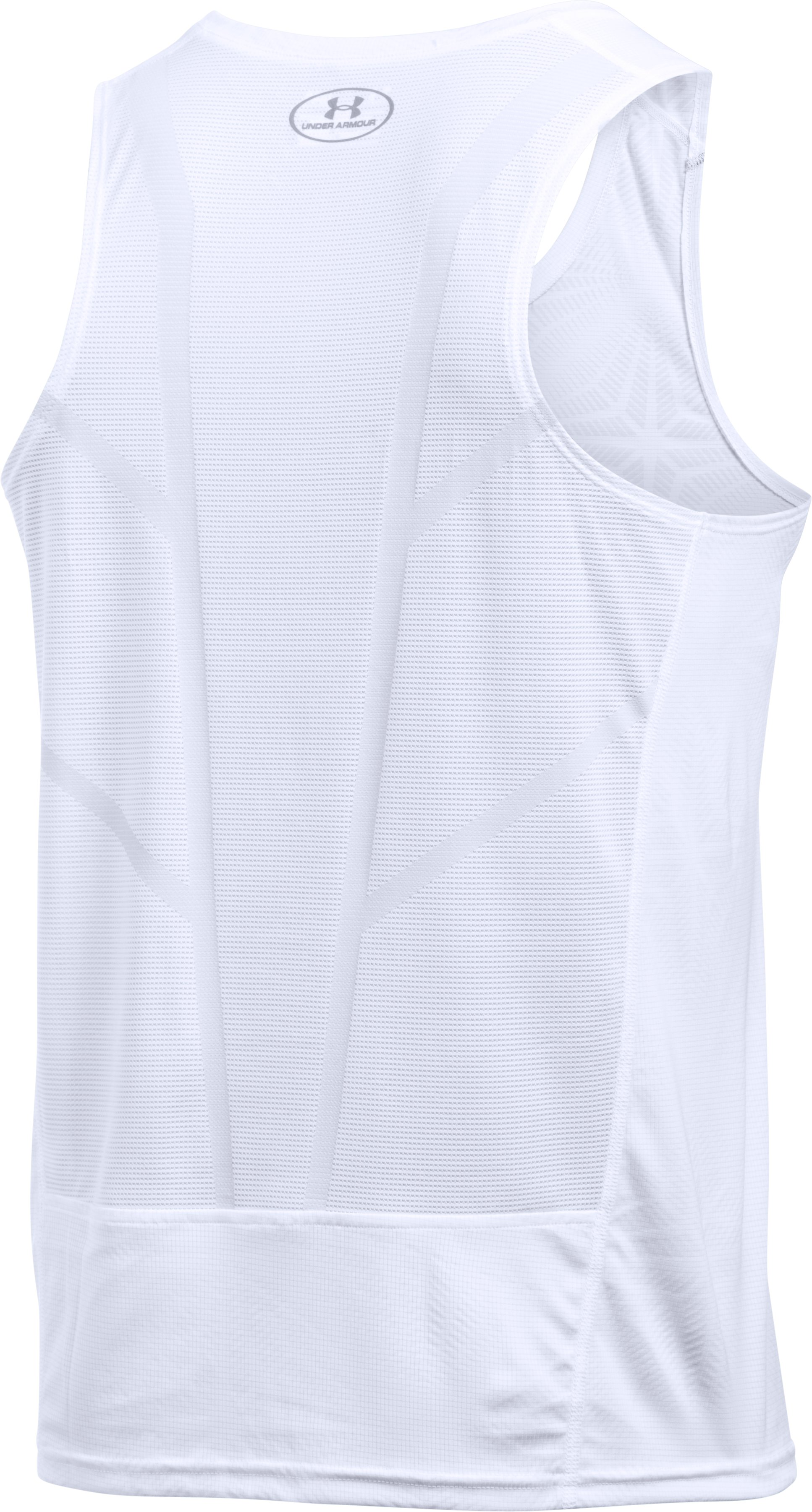 Men's UA CoolSwitch Run Singlet, White,