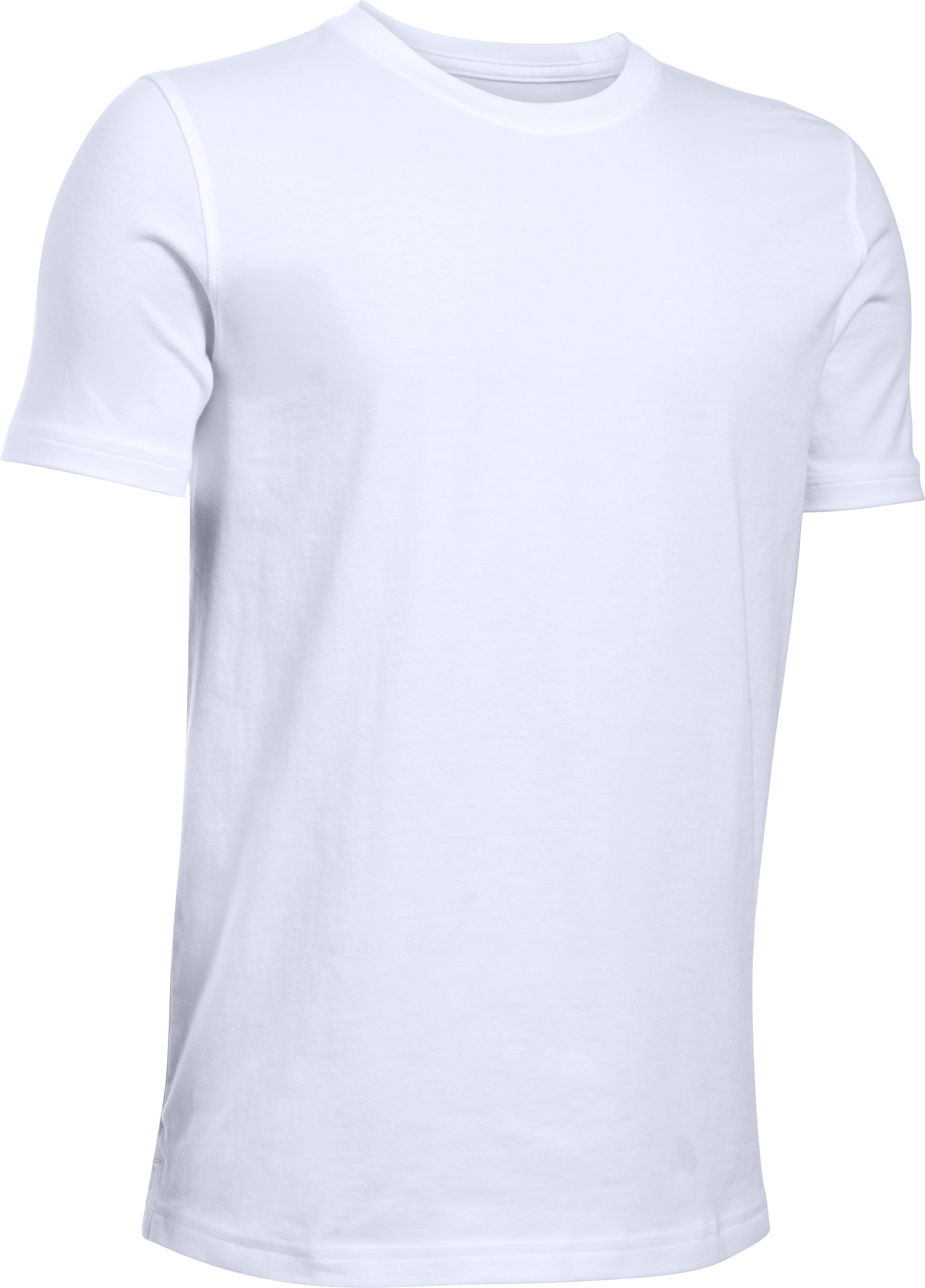 Boys' UA Extend The Game T-Shirt, White, zoomed image