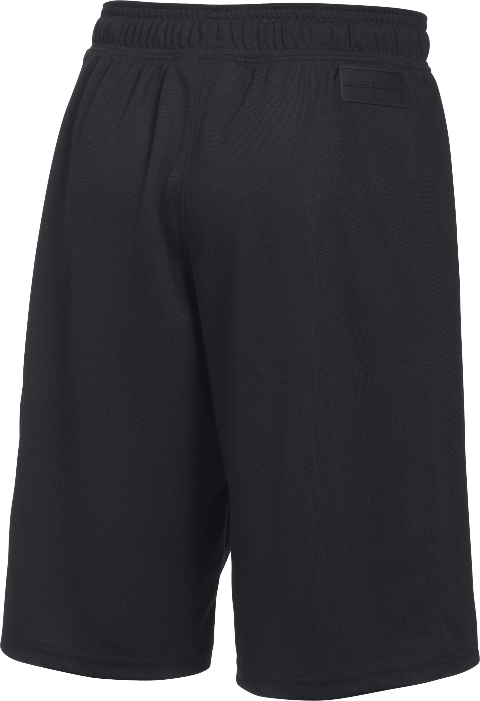 Boys' UA Pursuit Cargo Shorts, BLACK MEDIUM HEATHER, undefined