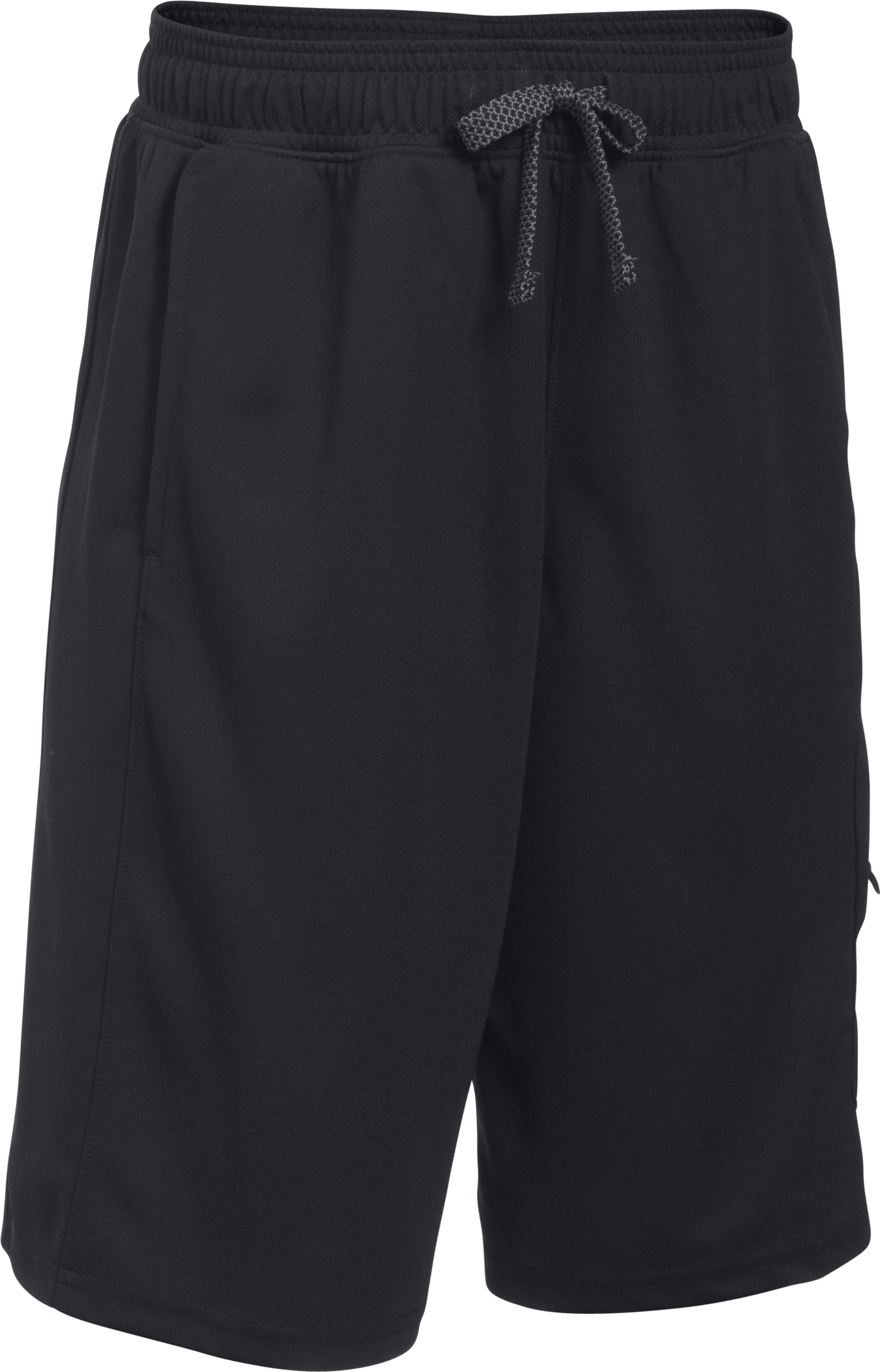 Boys' UA Pursuit Cargo Shorts, BLACK MEDIUM HEATHER