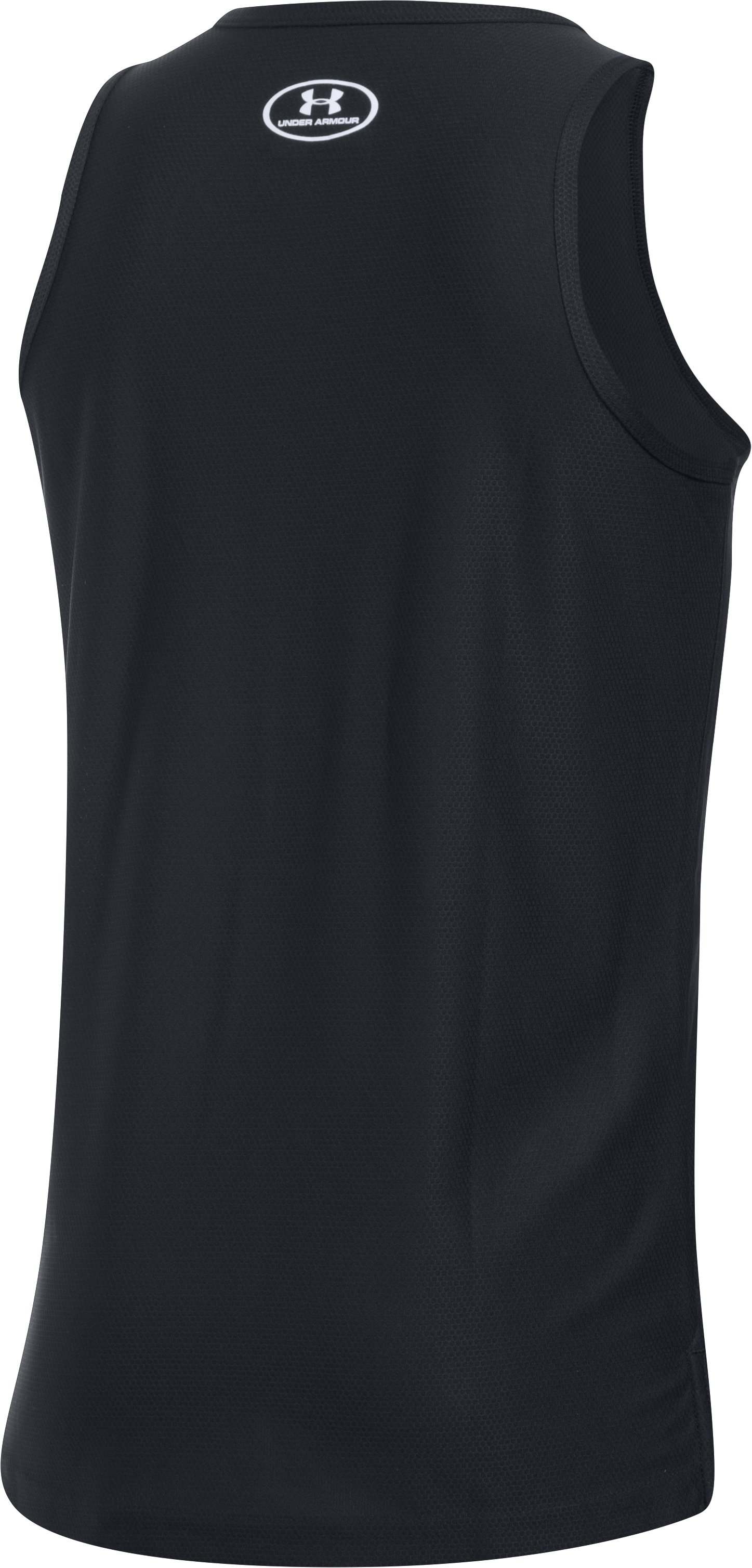 Boys' UA Pursuit Tank, Black ,