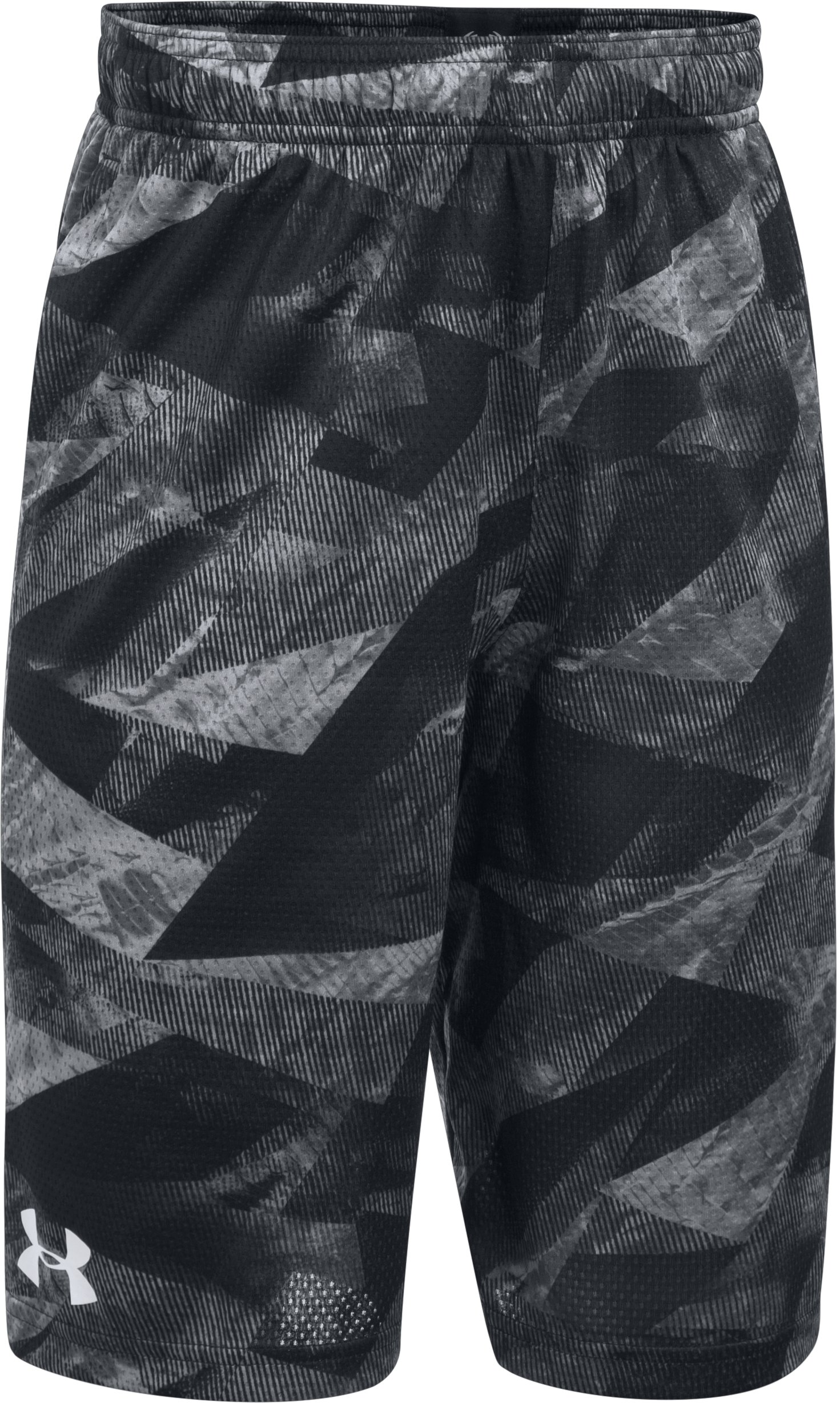 Boys' SC30 Essentials Printed Shorts, Black