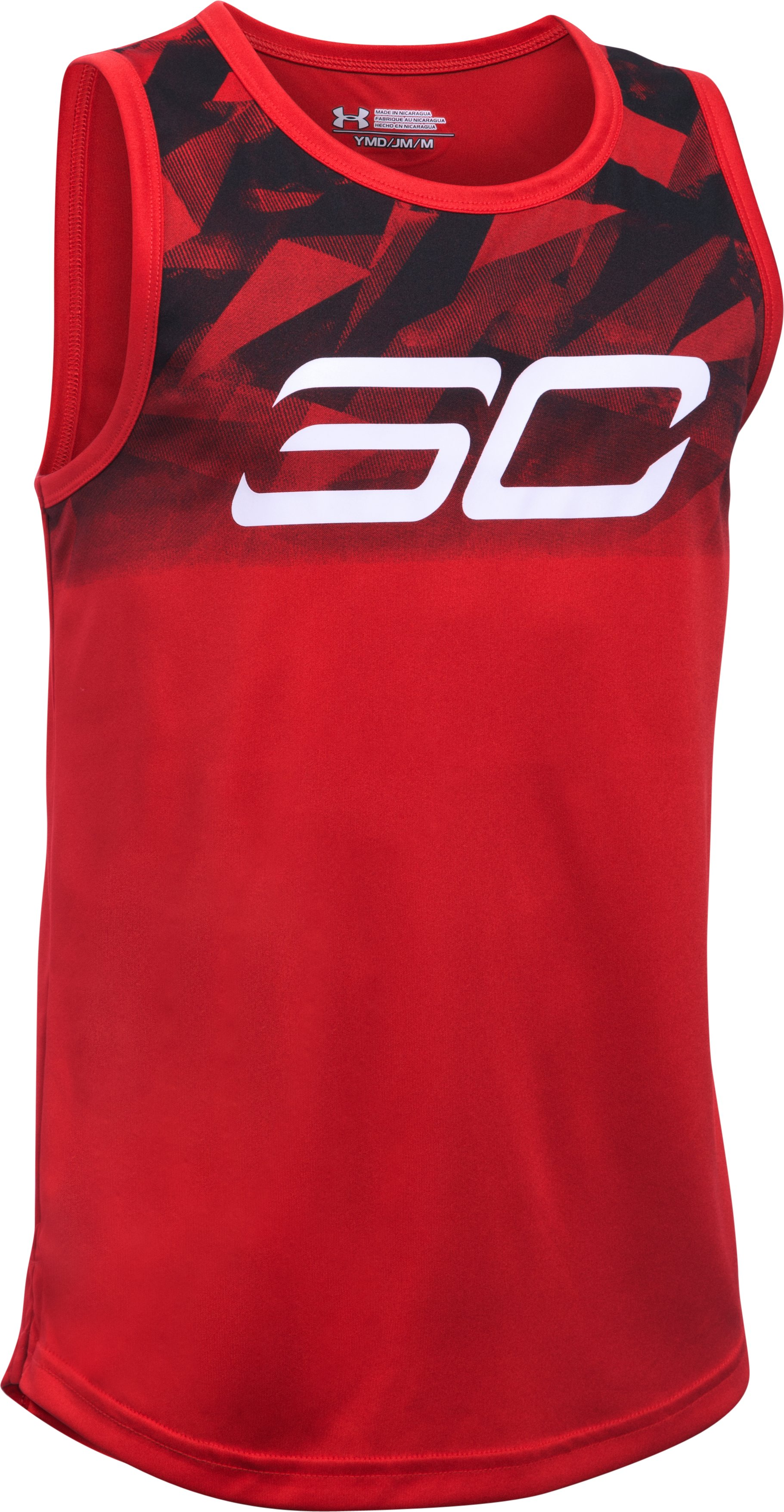 Boys' SC30 Essentials Tank, Red