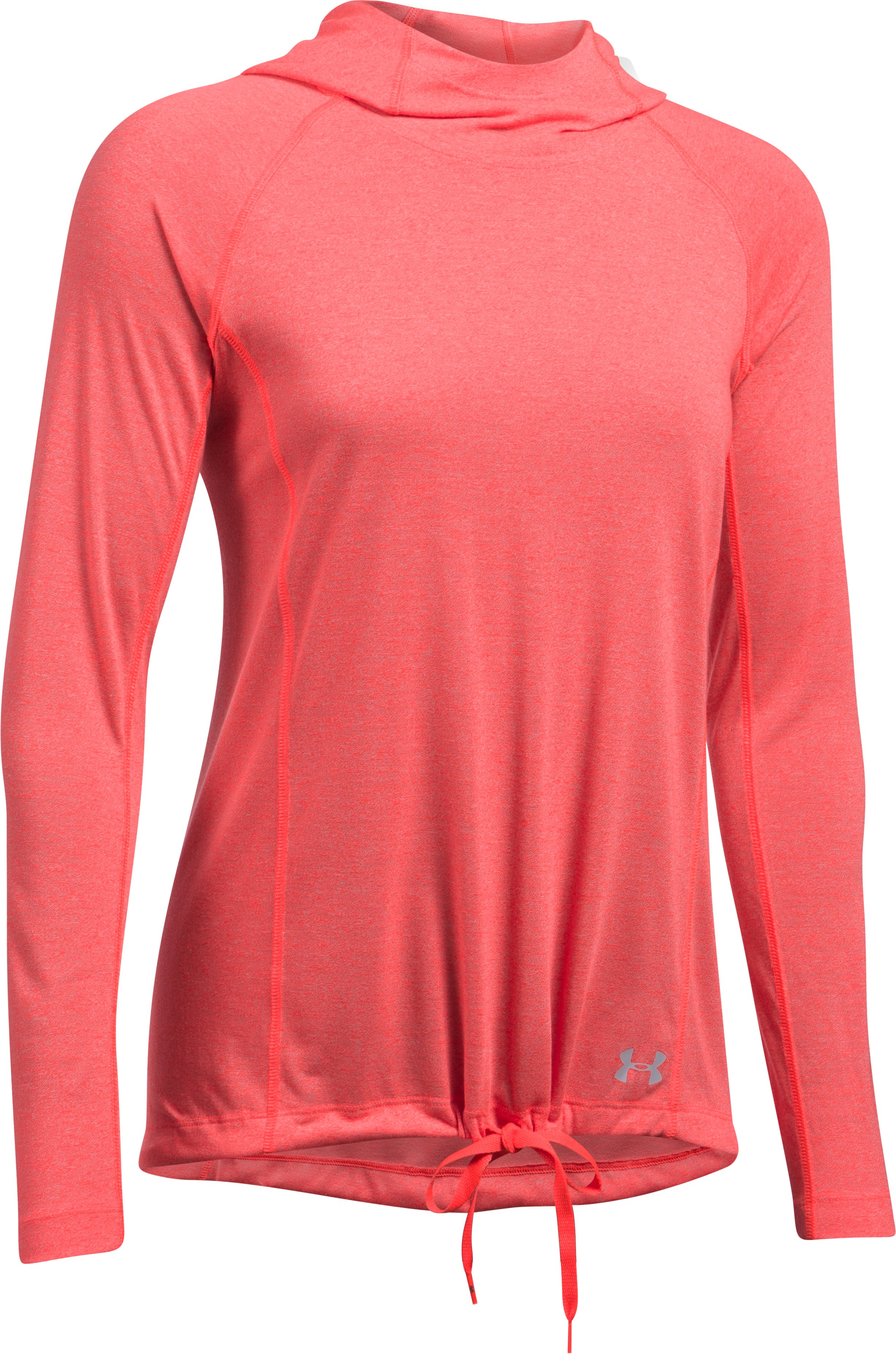Women's UA Threadborne Train Twist Hoodie, MARATHON RED, undefined