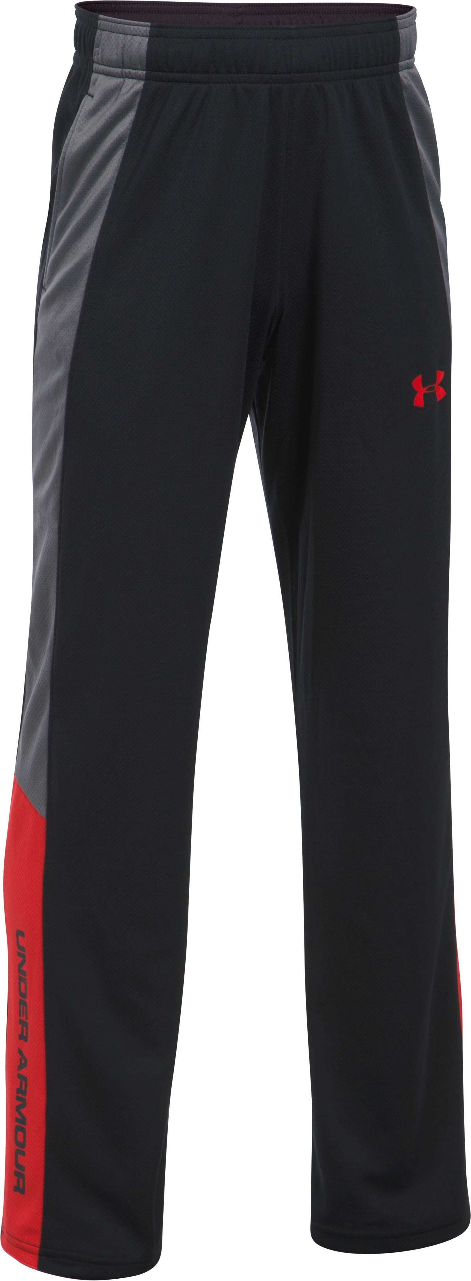 Boys' UA Advantage Warm-Up Pants, Black