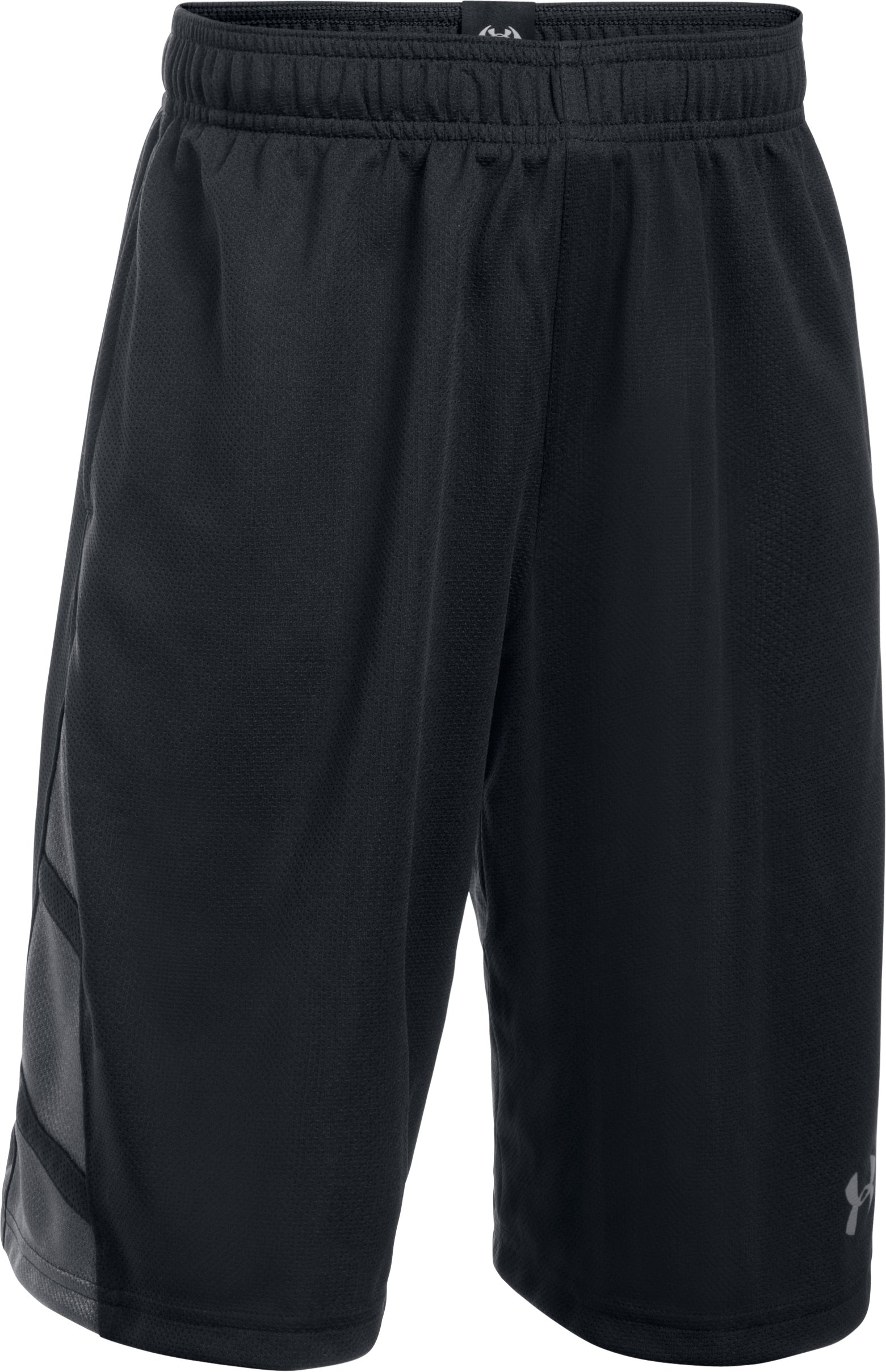 Boys' UA Triple Double Shorts, Black ,