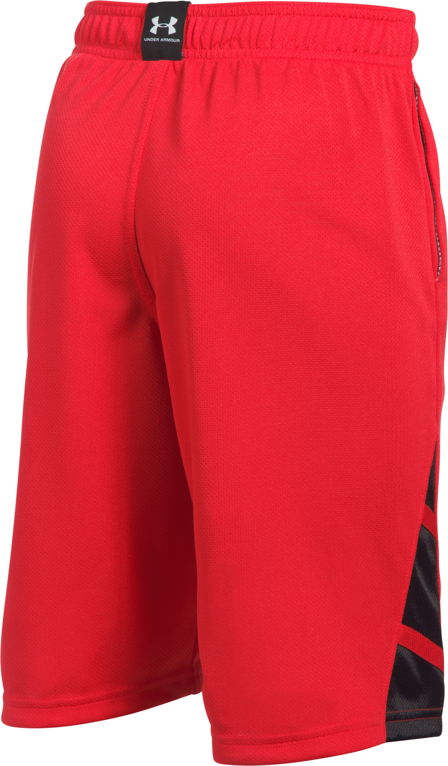 Boys' UA Triple Double Shorts, Red, undefined