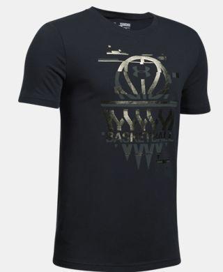 男童UA Basketball Badge T恤