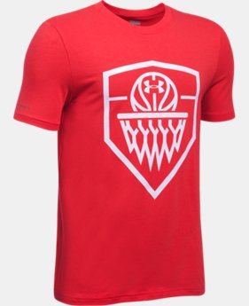 New Arrival Boys' UA Basketball Badge T-Shirt  1 Color $19.99