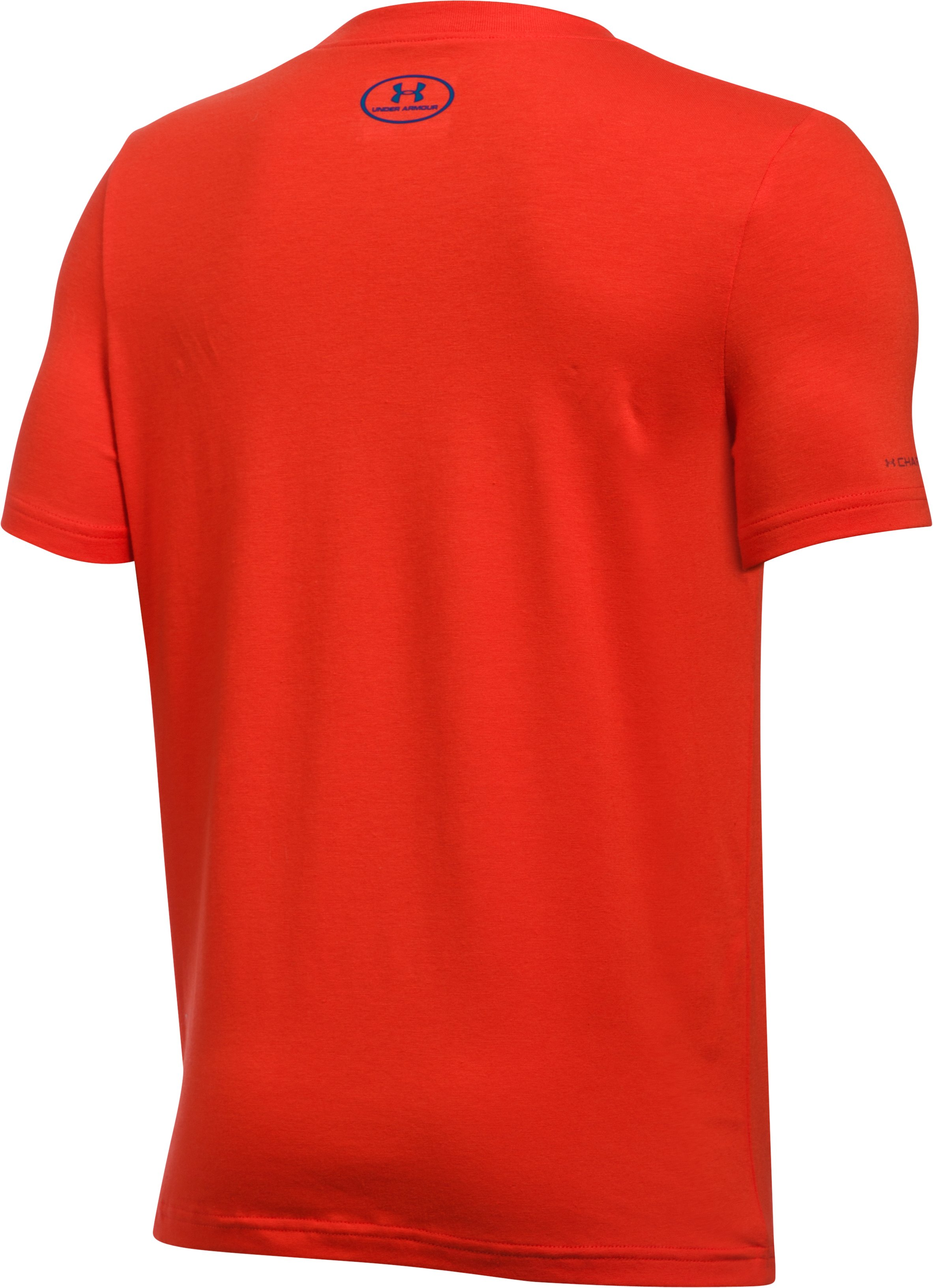 Boys' UA Basketball Badge T-Shirt, Dark Orange, undefined
