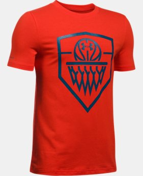 Boys' UA Basketball Badge T-Shirt  1 Color $19.99