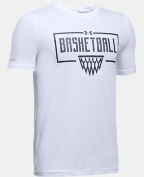 New Arrival Boys' UA Basketball Short Sleeve T-Shirt   $19.99