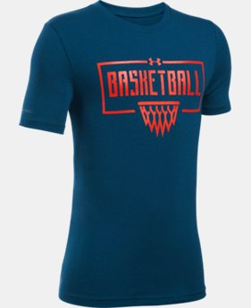 New Arrival Boys' UA Basketball Short Sleeve T-Shirt  1 Color $19.99