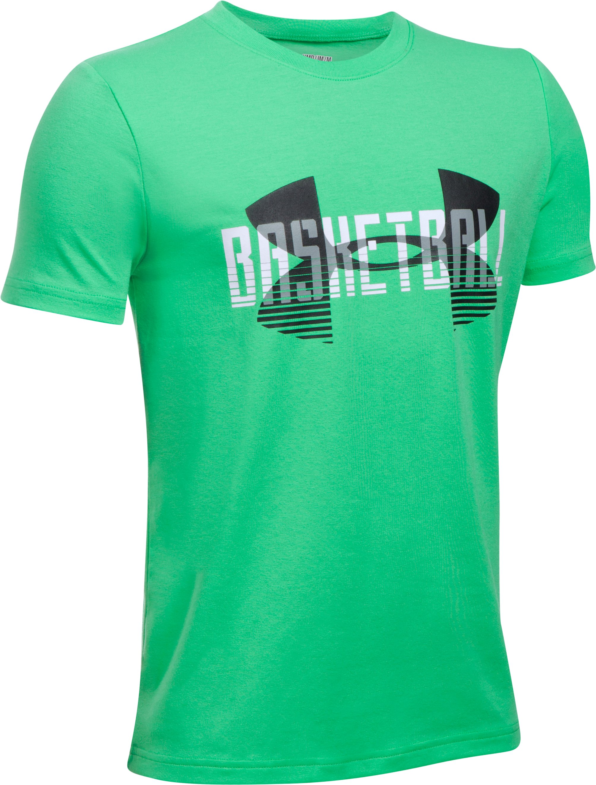 Boys' UA Branded Baller T-Shirt, VAPOR GREEN
