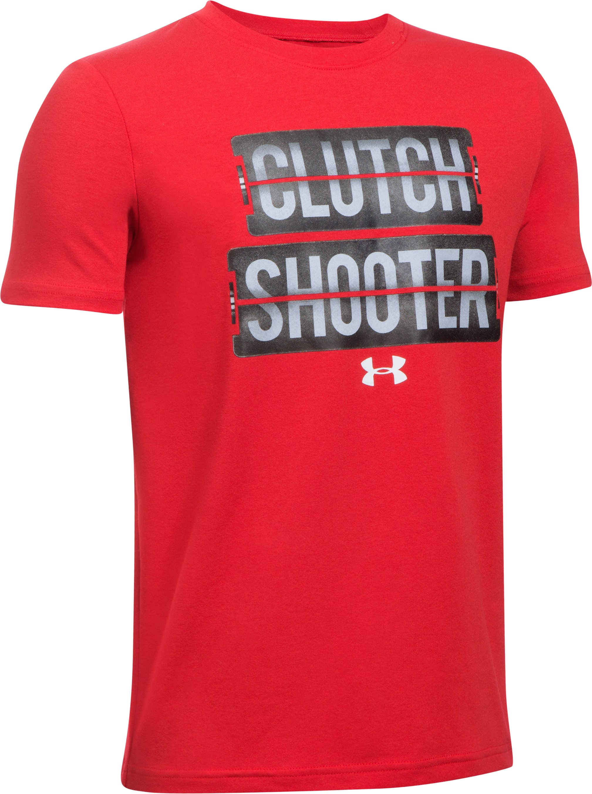 Boys' UA Clutch Shooter T-Shirt, Red,