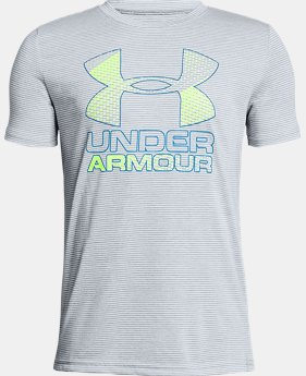 Best Seller  Boys' UA Hybrid Big Logo T-Shirt  14  Colors $17.99 to $22.99