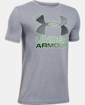 Best Seller Boys' UA Hybrid Big Logo T-Shirt  5 Colors $19.99