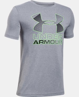 New Arrival  Boys' UA Hybrid Big Logo T-Shirt   $29.99