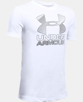 Best Seller Boys' UA Hybrid Big Logo T-Shirt  11  Colors $14.99 to $18.99