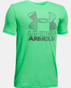 Best Seller Boys' UA Hybrid Big Logo T-Shirt  2 Colors $19.99