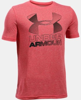 Best Seller Boys' UA Hybrid Big Logo T-Shirt  1 Color $19.99