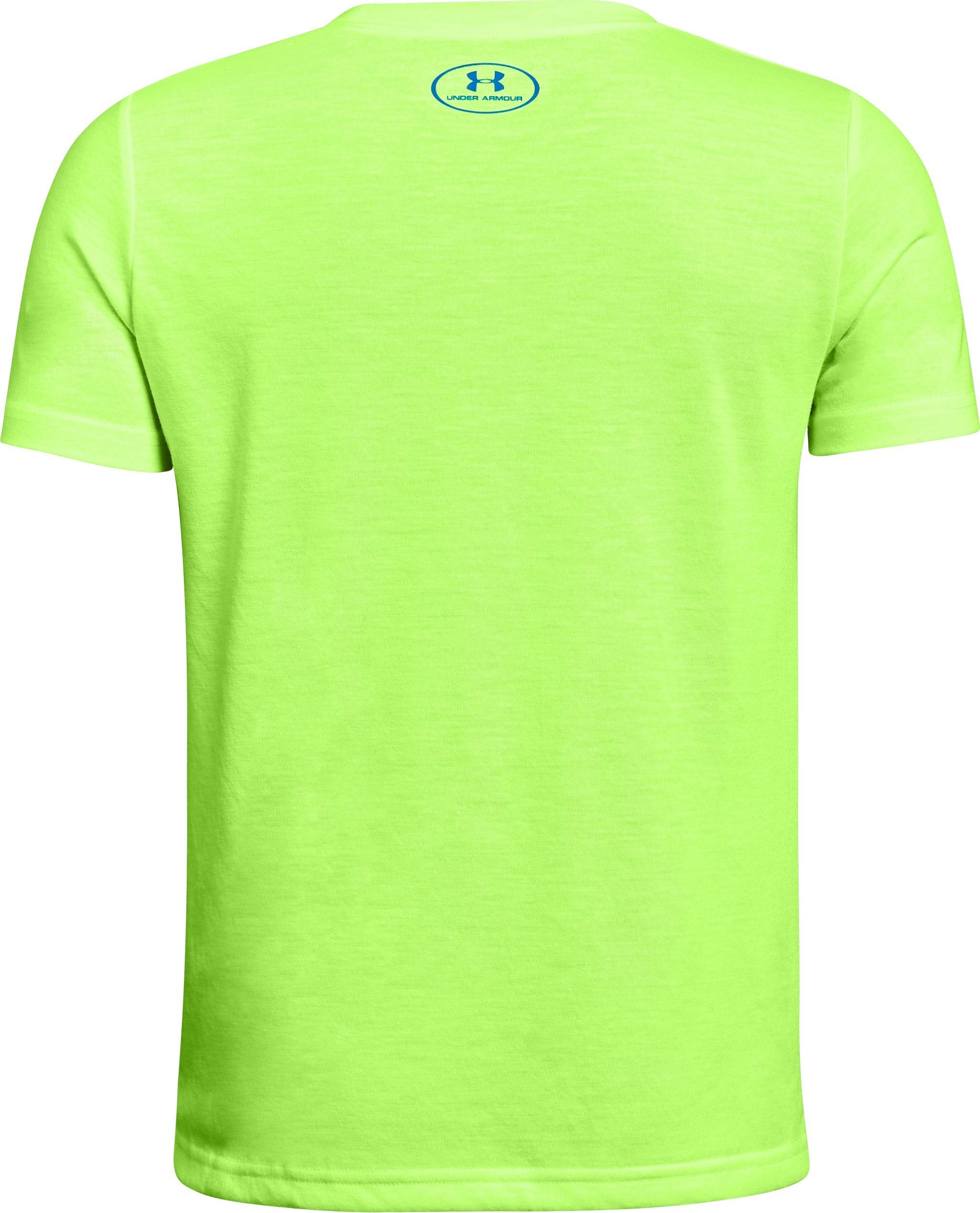 Boys' UA Hybrid Big Logo T-Shirt, QUIRKY LIME, undefined