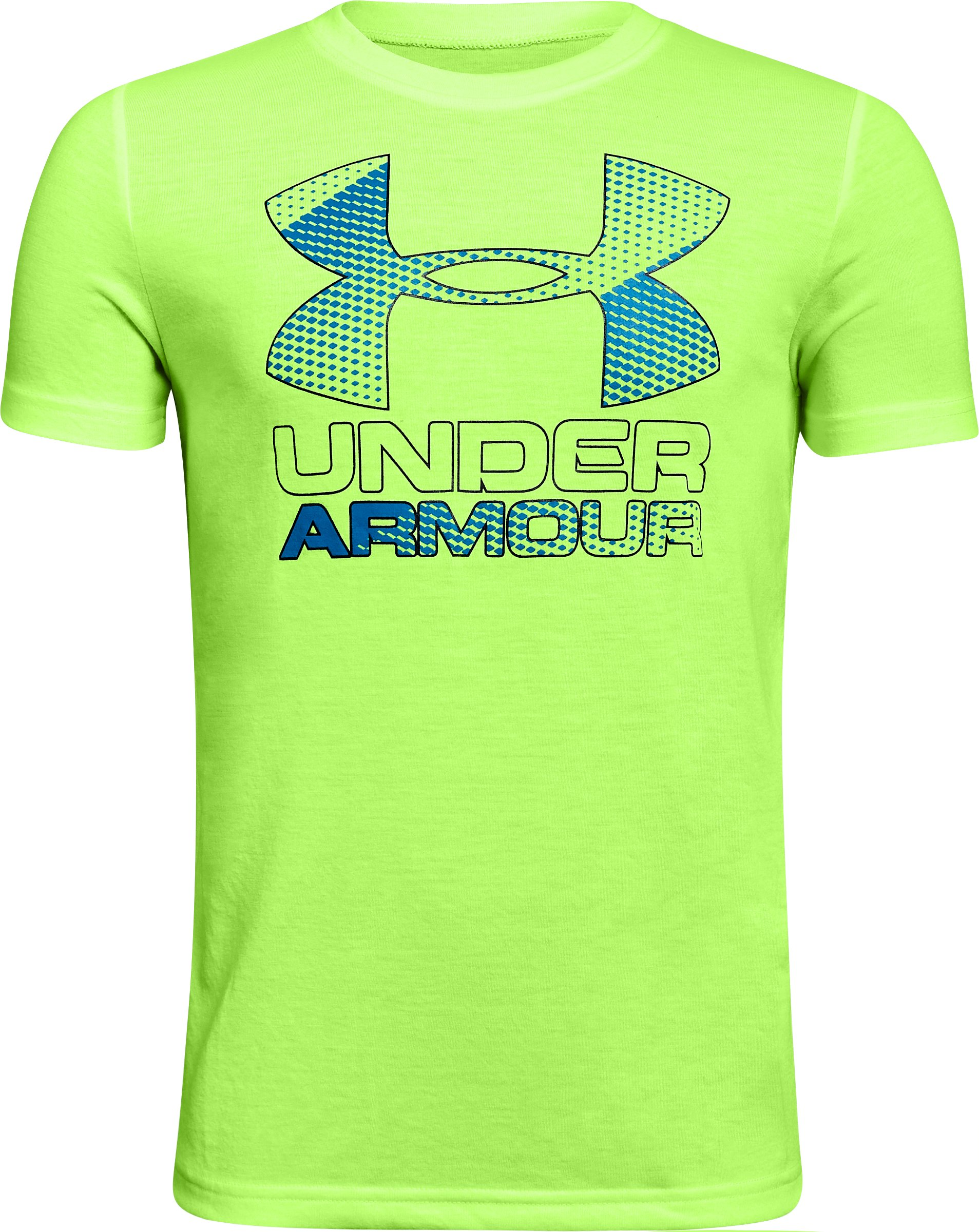 Boys' UA Hybrid Big Logo T-Shirt, QUIRKY LIME