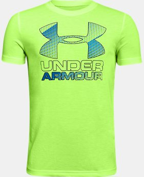 Best Seller Boys' UA Hybrid Big Logo T-Shirt  4 Colors $19.99