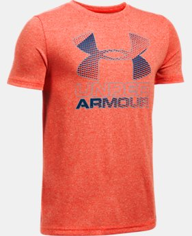 Best Seller Boys' UA Hybrid Big Logo T-Shirt  1 Color $14.99 to $19.99