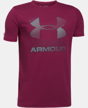 Best Seller Boys' UA Hybrid Big Logo T-Shirt  4  Colors Available $12.5 to $18.99