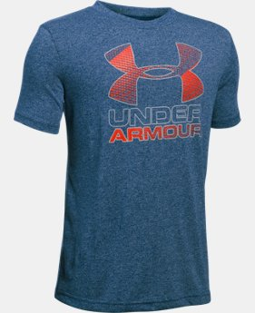 Best Seller Boys' UA Hybrid Big Logo T-Shirt   $19.99