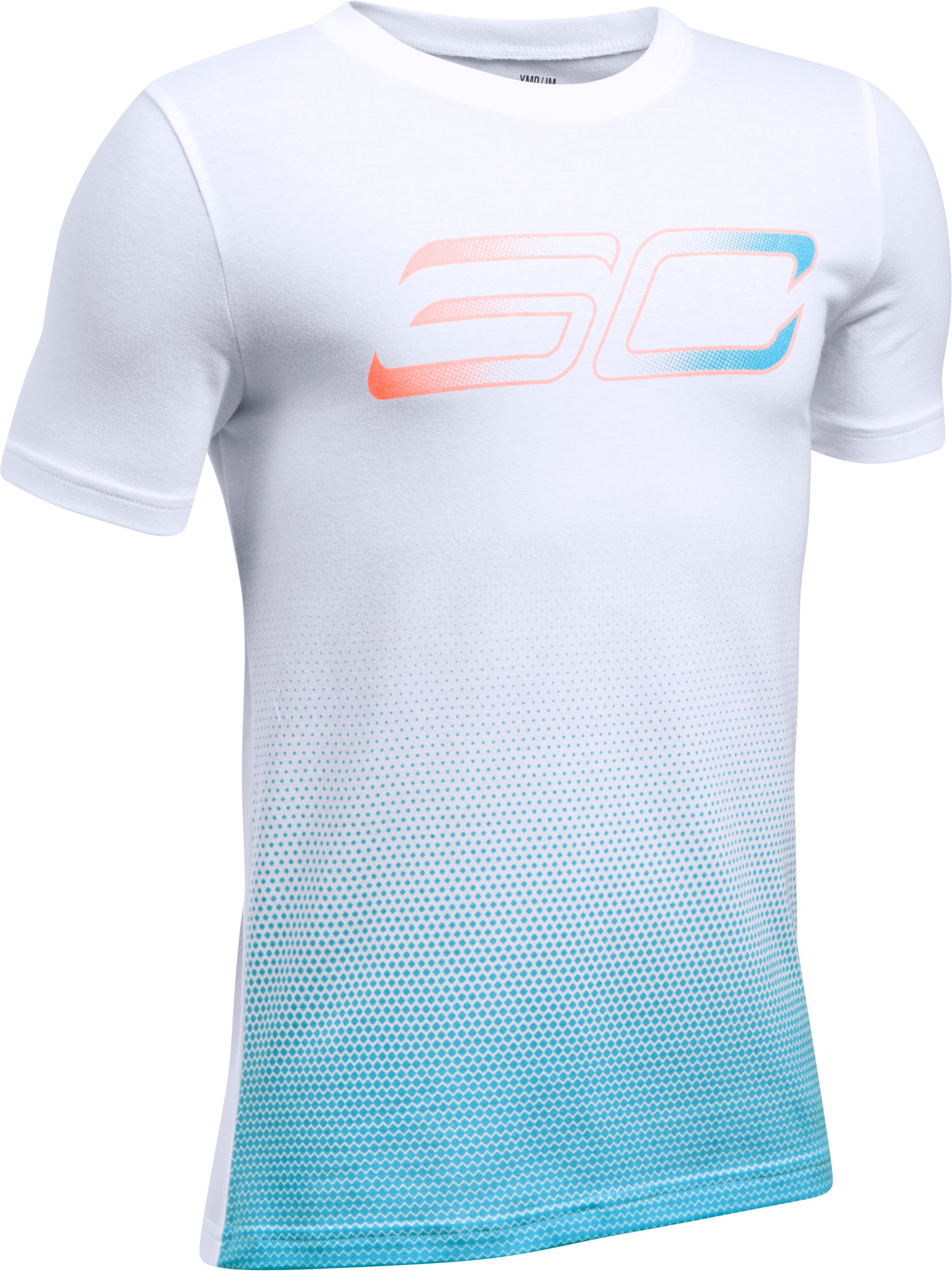 Boys' SC30 Player Fade Short Sleeve T-Shirt, White,