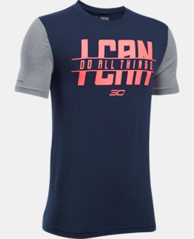 Boys' SC30 I Can Do All Things Short Sleeve T-Shirt  2 Colors $18.99