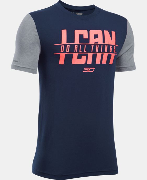 New Arrival Boys' SC30 I Can Do All Things Short Sleeve T-Shirt   $24.99