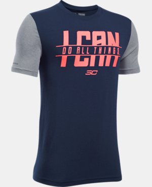 New Arrival Boys' SC30 I Can Do All Things Short Sleeve T-Shirt  1 Color $24.99