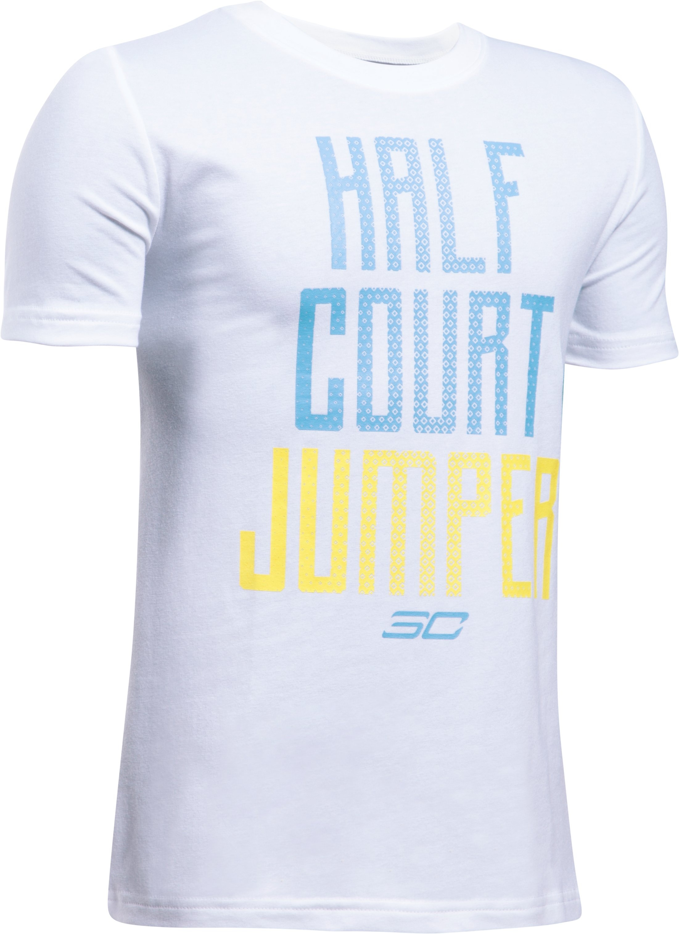 Boys' SC30 Half Court Jumper T-Shirt, White, undefined