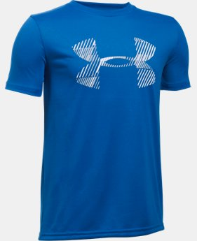 Boys' UA Combo Logo Short Sleeve T-Shirt  1 Color $17.99